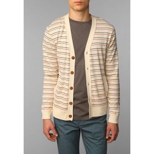 HAWKINGS McGILL • Striped Varsity Knit Cardigan